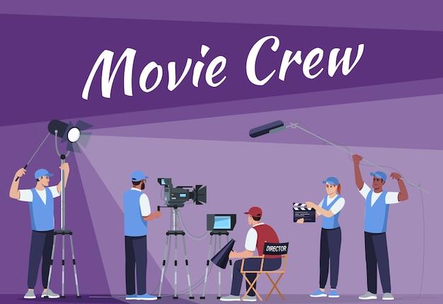 Modello di poster sociale della troupe cinematografica