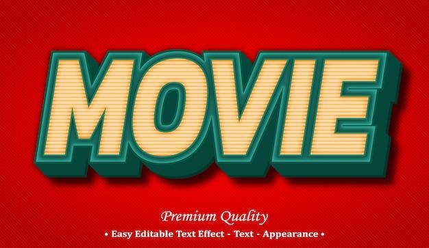 Effetto stile testo modificabile filmato