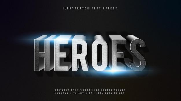 Effetto carattere di testo a tema di film heroes