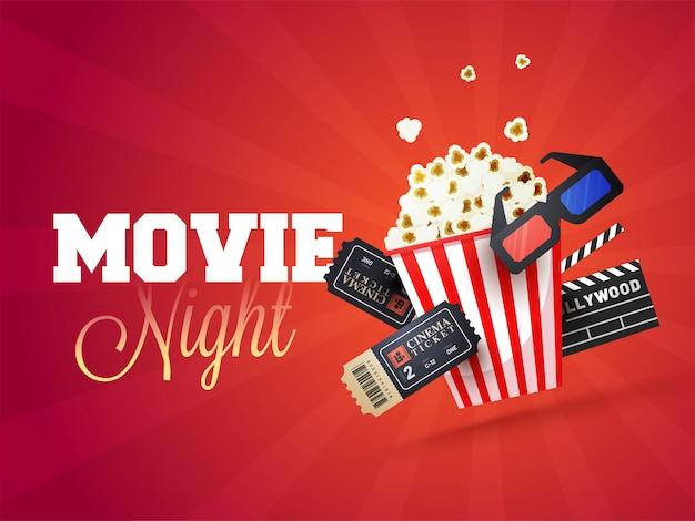 Concetto di notte di film