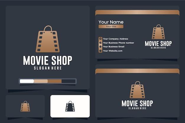 Negozio di film, borsa, ispirazione per il design del logo