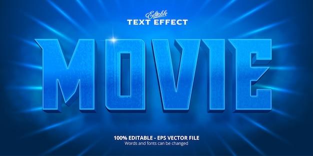 Testo del film, effetto di testo modificabile