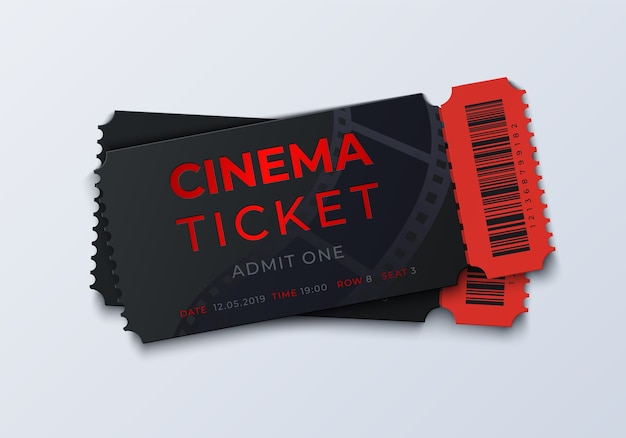 Illustrazione del modello di biglietto del cinema