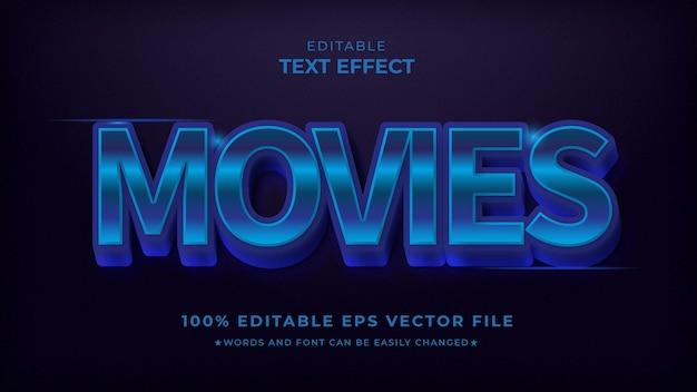 Modello di effetto blu con testo modificabile per film
