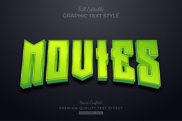 Stile carattere testo modificabile verde
