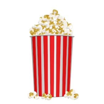Film popcorn design illustrazione