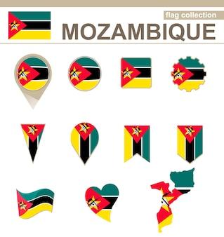 Collezione bandiera mozambico, 12 versioni