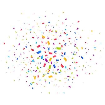 Confetti multicolor scoppiano sfondo
