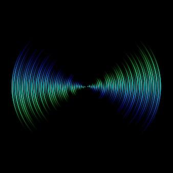 Onda sonora multicolore da sfondo equalizzatore