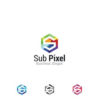 Icona di lettera s multicolore