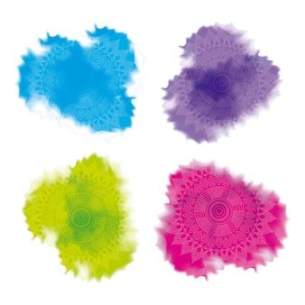 Decorazione astratta in polvere multicolore