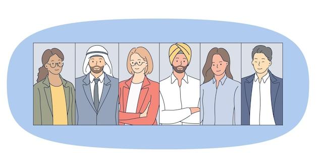 Diversità multiculturale, squadra e concetto di partenariato internazionale
