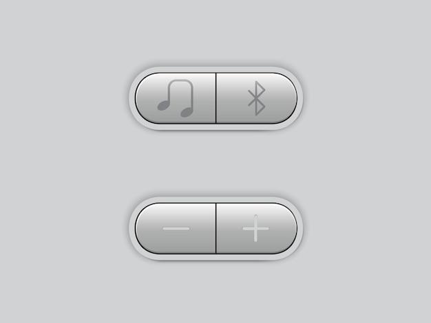 Pulsante multimediale per il design musicale