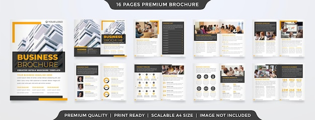 Design del modello di layout brochure bifold a4 multiuso con stile minimalista