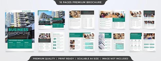 Modello premium modello di brochure multiuso