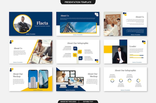 Modello di presentazione di diapositive aziendali multiuso 9 pagine