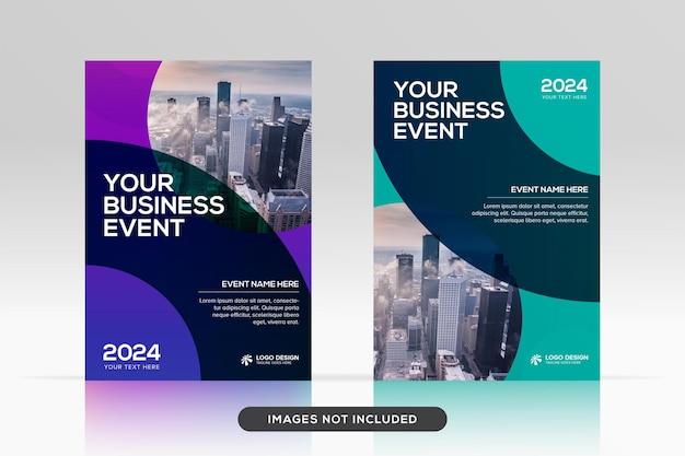 Modello di progettazione di copertina di libro aziendale multiuso in mockup vettoriale premium in formato a4
