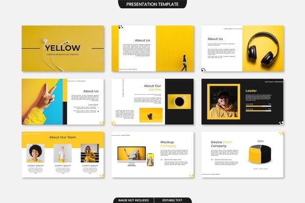Modello di presentazione di diapositive aziendali multiuso creativo 9 pagine
