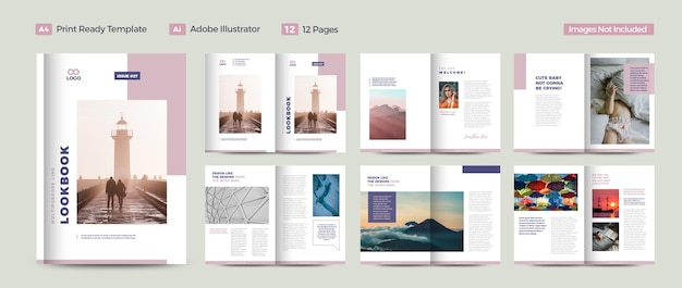 Design di riviste multiuso o design di lookbook urbani o design di ebook digitali