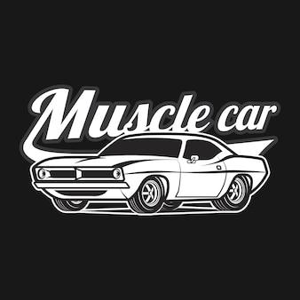 Stampa della maglietta del manifesto di vettore classico del fumetto di muscle car
