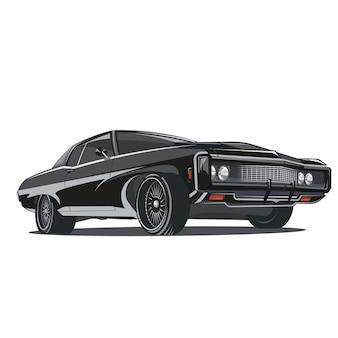 Manifesto del veicolo classico di muscle car