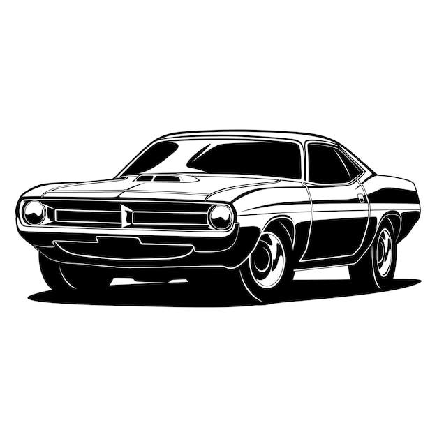 Illustrazione di muscle car