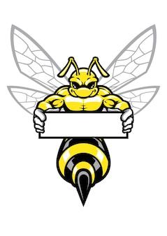 Bandiera della holding della vespa muscolare