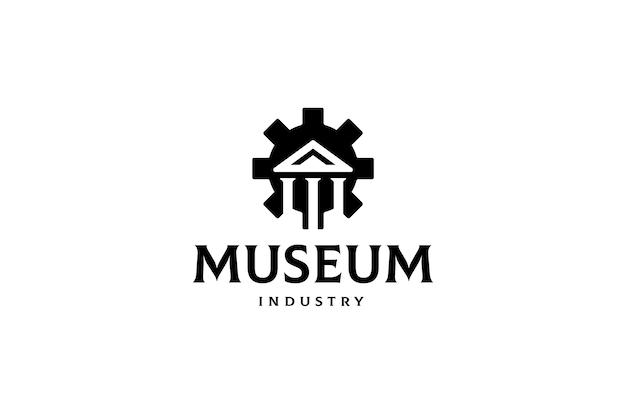 Modello di logo dell'industria del museo