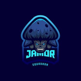Design del logo dei funghi
