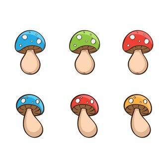 Illustrazione vettoriale di funghi