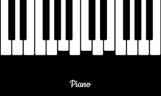 Sottofondo musicale con tasti di pianoforte. tasti del pianoforte in stile piatto