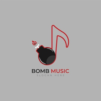 Modello di progettazione del logo della bomba musicale