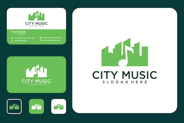 Design del logo della città della musica e biglietto da visita