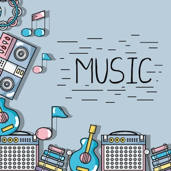 Elementi musicali per riprodurre il ritmo dell'armonia