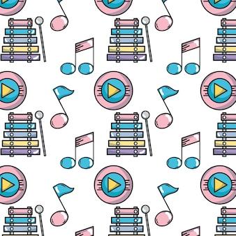 Elementi musicali per riprodurre lo sfondo della melodia
