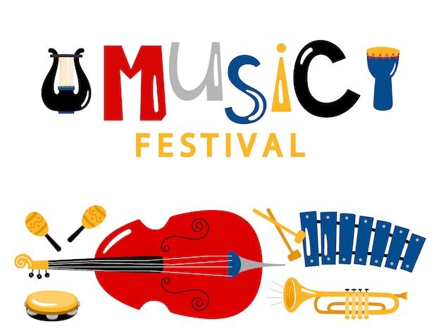 Modello di bandiera del festival musicale