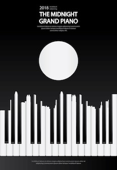 Poster music grand piano