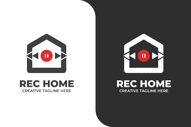 Music house studio monoline logo