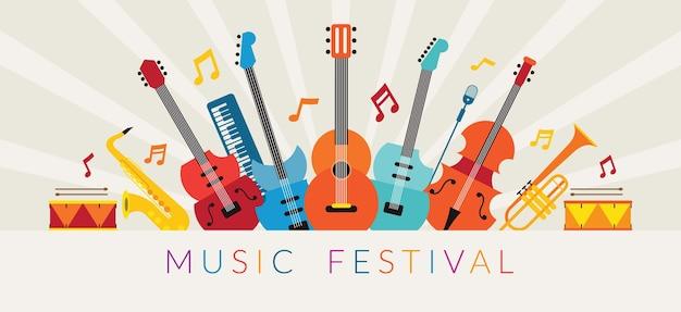 Illustrazione di strumenti musicali