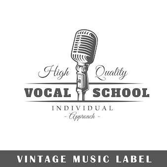 Etichetta musicale isolato su sfondo bianco.
