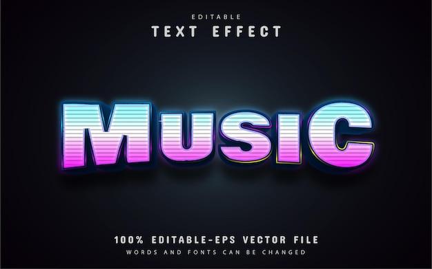 Effetto di testo al neon di musica