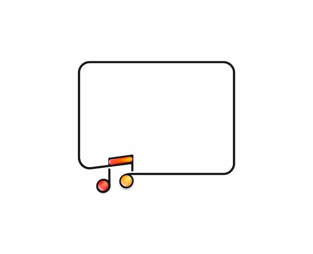 Progettazione di banner di note musicali, illustrazione vettoriale di arte di linea piatta.