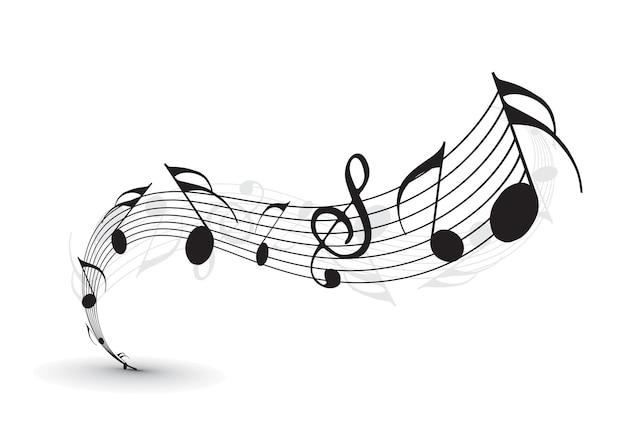 Note musicali per uso di design, illustrazione vettoriale
