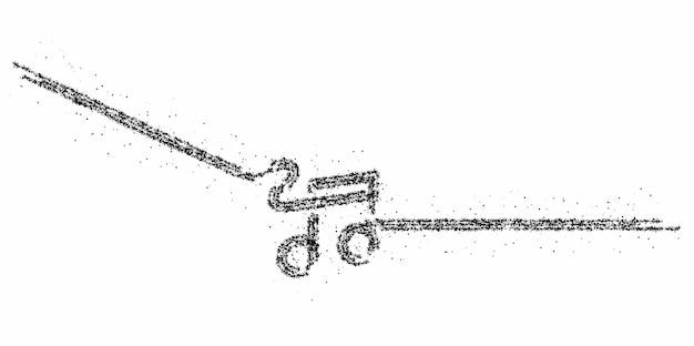 Note musicali particle design icon, illustrazione vettoriale