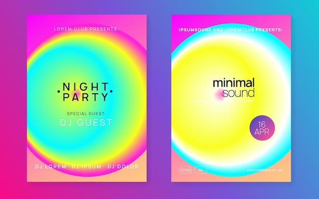Manifesto di musica. sfondo elegante per il design della copertina. luminoso club pi