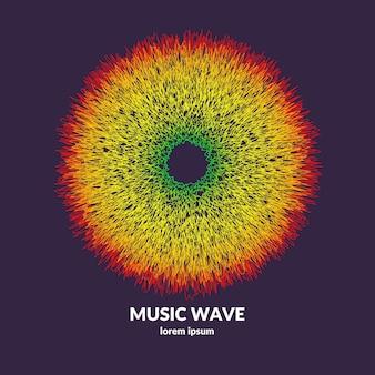 Manifesto musicale. fondo astratto di vettore con onde dinamiche colorate. illustrazione adatta per il design