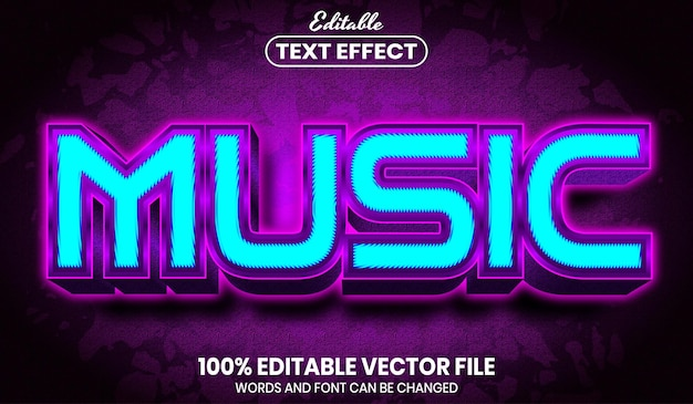 Testo musicale, effetto testo modificabile in stile carattere