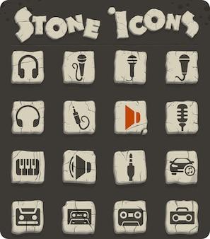 Icone web musicali per il design dell'interfaccia utente