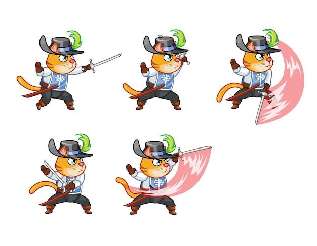 Moschettiere cat sword master sprite