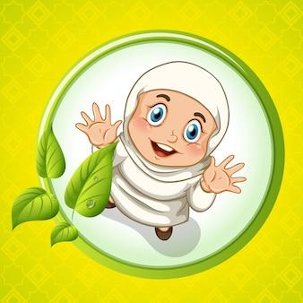 Ragazza musulmana con il volto felice